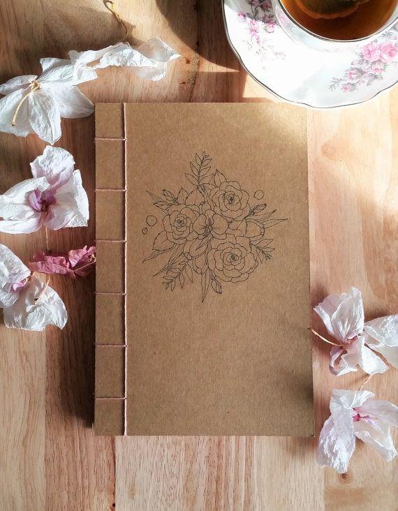 Flores forrado cuaderno/diario/planificador de Límite