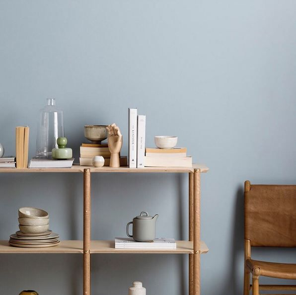 Absolutely loving the new Shibui Shelving System from our friends at @plyroom! When paired with a gentle blue/grey hue such as Haymes Chapel Grey, it automatically creates a calm and relaxing feel to any space.👌🏽 • Colour Used - Haymes Chapel Grey 📸 by @gemmola Styling by - @stefanieingram