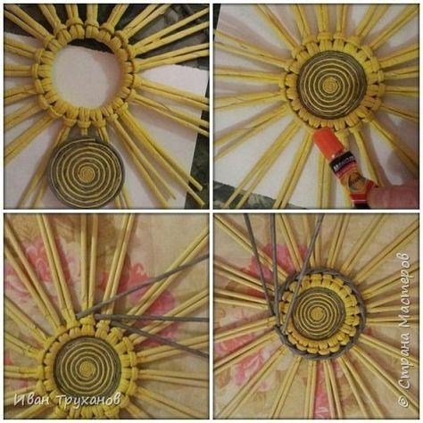 Мастер-класс Плетение Панно Скромный мк середины Трубочки бумажные фото 3