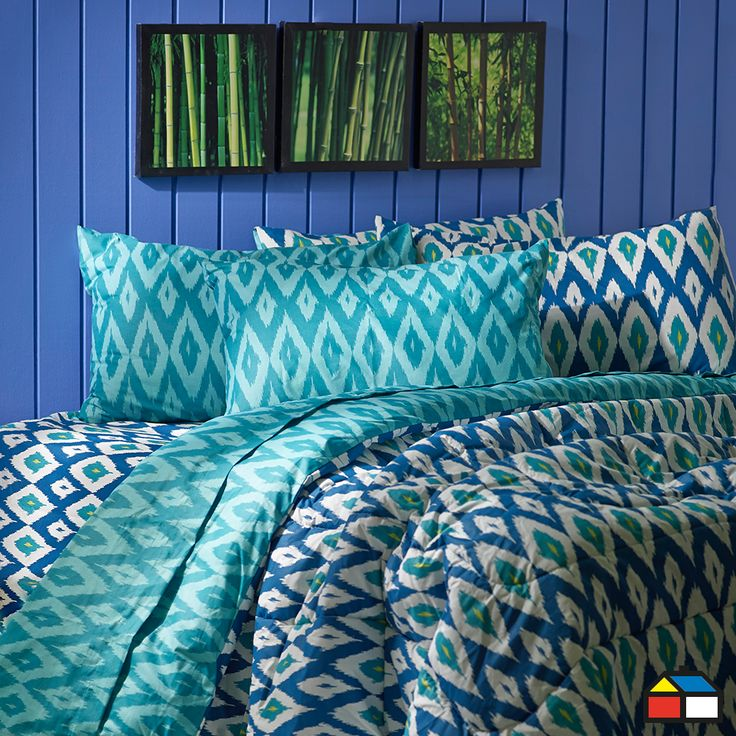 Bedroom Ideas Modern Vastu For Bedroom Colour Master Bedroom Wall Decor Ideas Pinterest Big Bedrooms For Girls Blue: Home Collection Plumón 2 Plazas Ikat