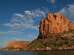 TWA-0041041 © WestPix The distinctive bastion of Raft Point. The Kimberley. Picture: Stephen Scourfield