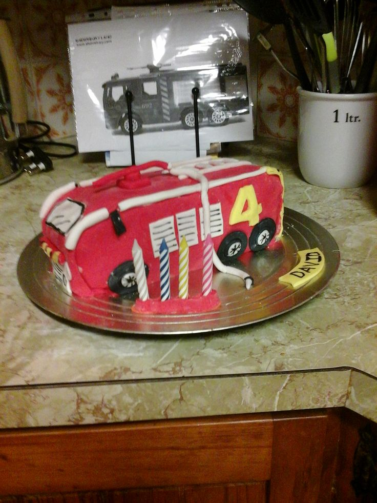 Fire Engine Cake for David