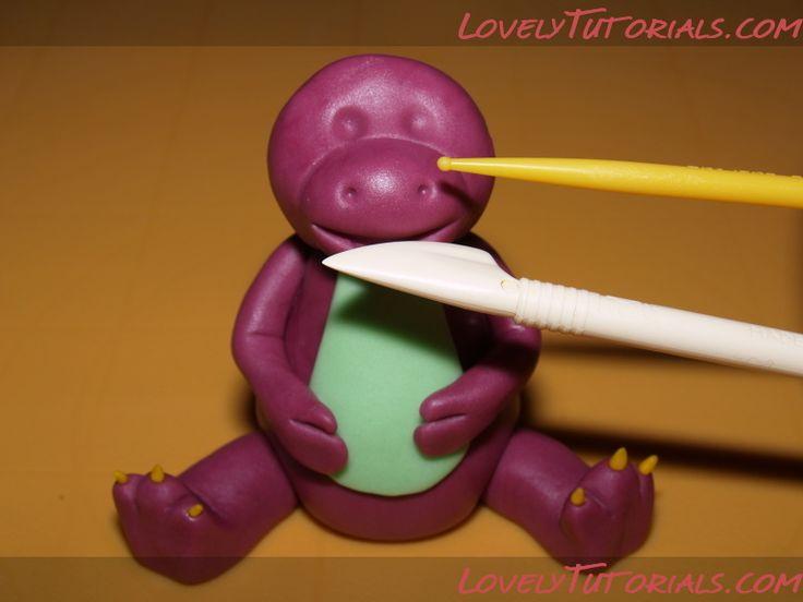 """МК лепка """"Барни и его друзья"""" -Barney & Friends figure making tutorials - Мастер-классы по украшению тортов Cake Decorating Tutorials (How To's) Tortas Paso a Paso"""