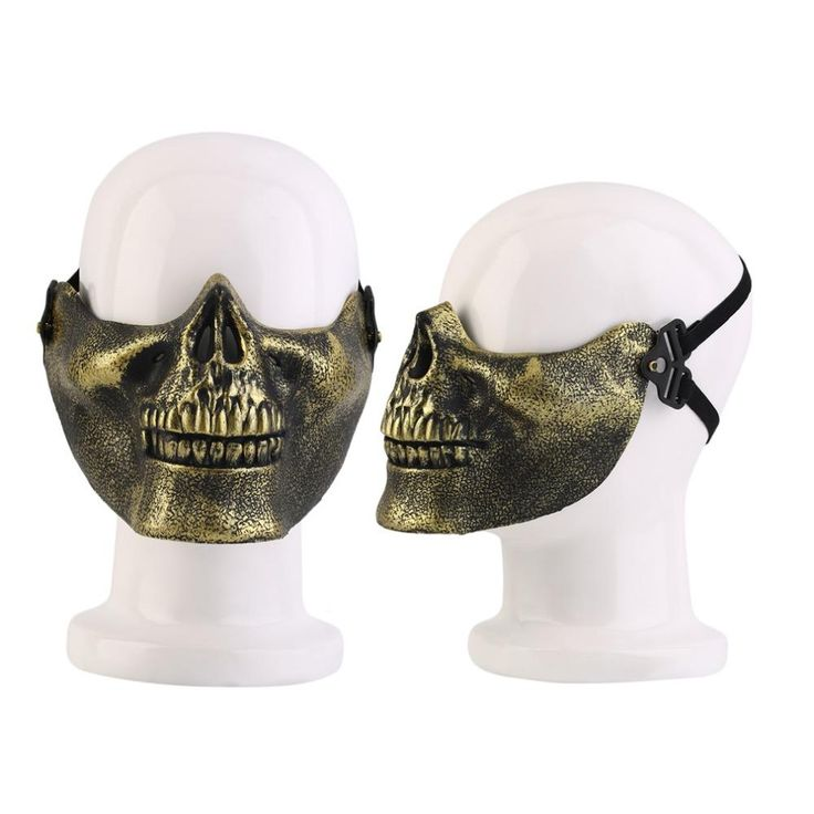 Skeleton Mask Half Face Actual Combat Warrior Face Masks Halloween Scary Skull Mask Horror Anonymous Cosplay Free Shipping