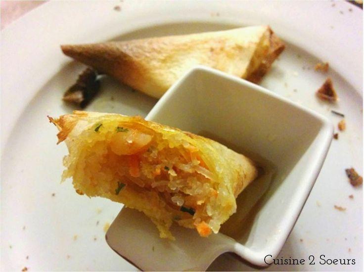 Cuisine 2 Soeurs: Samoussas aux crevettes {Bataille Food #21}
