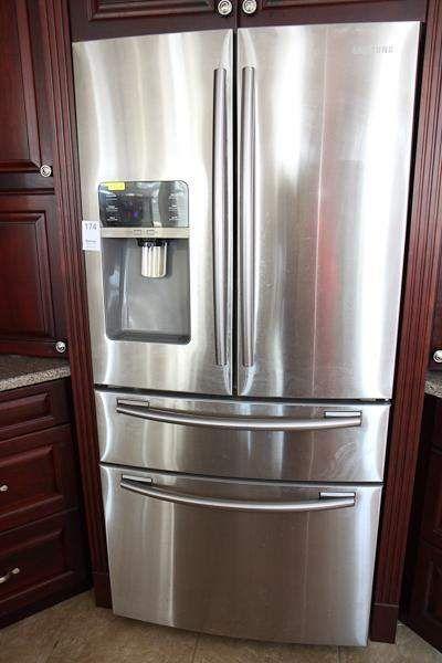 Samsung stainless-look fridge