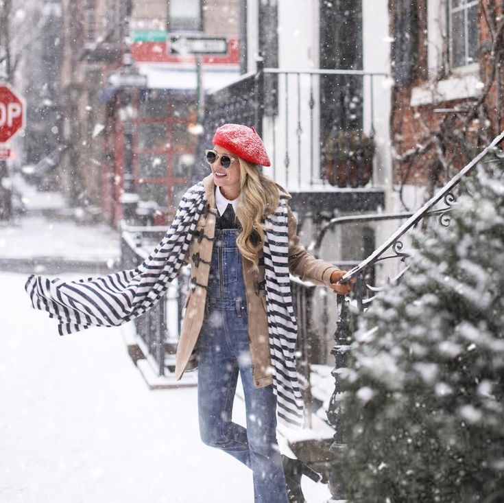 Snow day in NYC! #snow #snowoutfit #snowday #nycsnow Blair Eadie Atlantic-Pacific