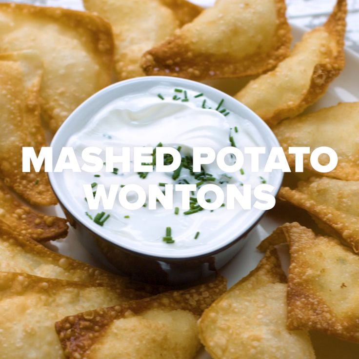 Mashed Potato Wontons // #wontons #mashedpotato #potato #appetizer #food #tasty