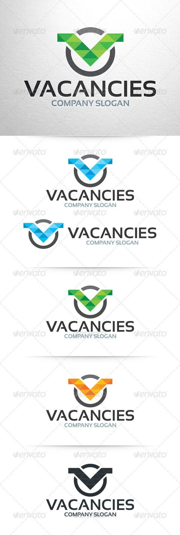 Vacancies - Letter V Logo Template (Letters)