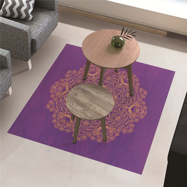 PAG Floor Decor Sticker Waterproof Antiskid Floor Decal Home Improvement Decor Tea Table Decor