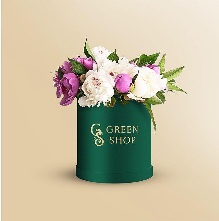 Download Round Flower Box Free Psd Mockup Mockup Free Psd Flower Boxes Floral Drawing