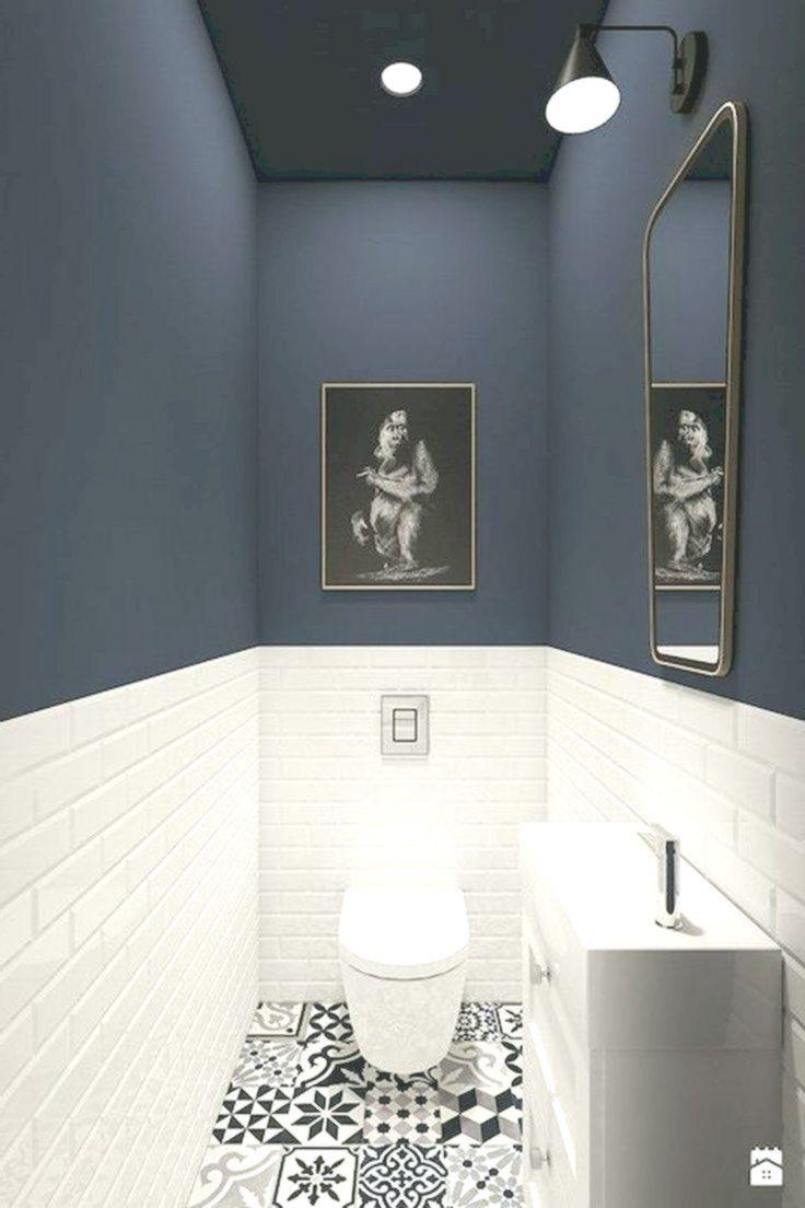 93 Coole Design Ideen Fur Schwarz Weiss Badezimmer Bad Schwarz Design Ideen Weiss In 2020 Small Bathroom Decor Small Toilet Room Bathroom Interior