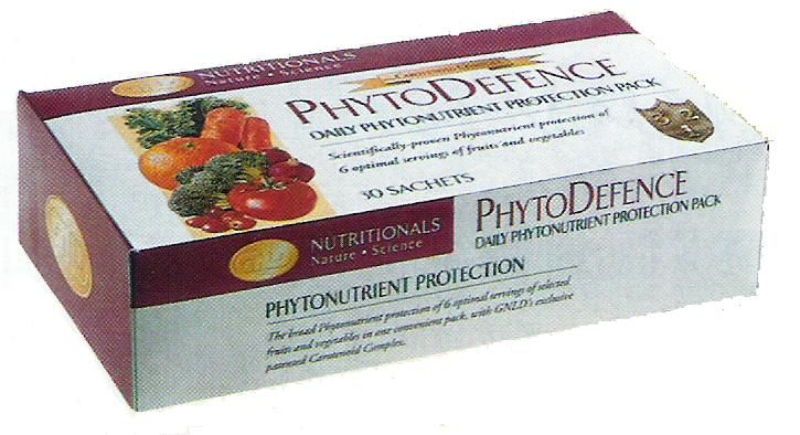 PhytoDefence recommended for Cancer Patients  First product of its kind to offer scientically proven phytonutrient protection.  A balanced mix of the equivalent of 6 optimal servings of whole-food phytonutrient fruits and vegetables.