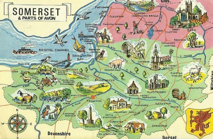 Somerset | Somerset map, England map, Somerset england