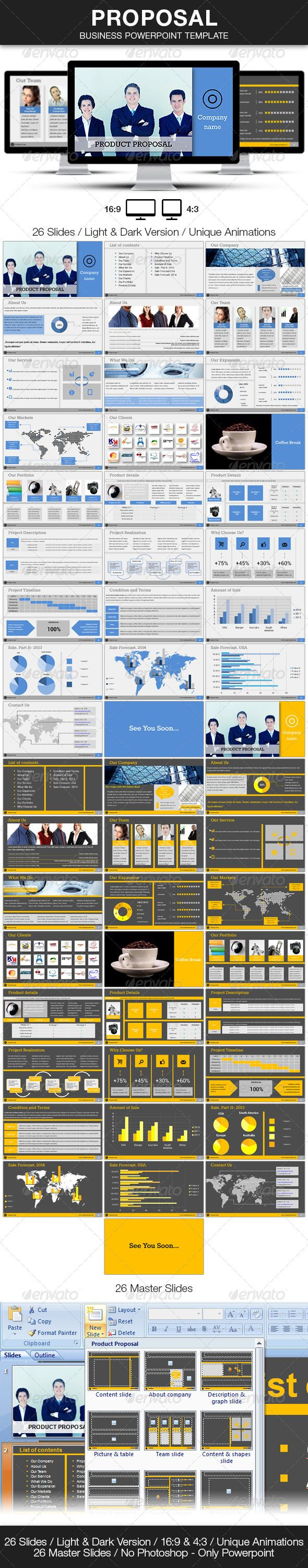 Proposal - Business Powerpoint Template - Presentation Templates