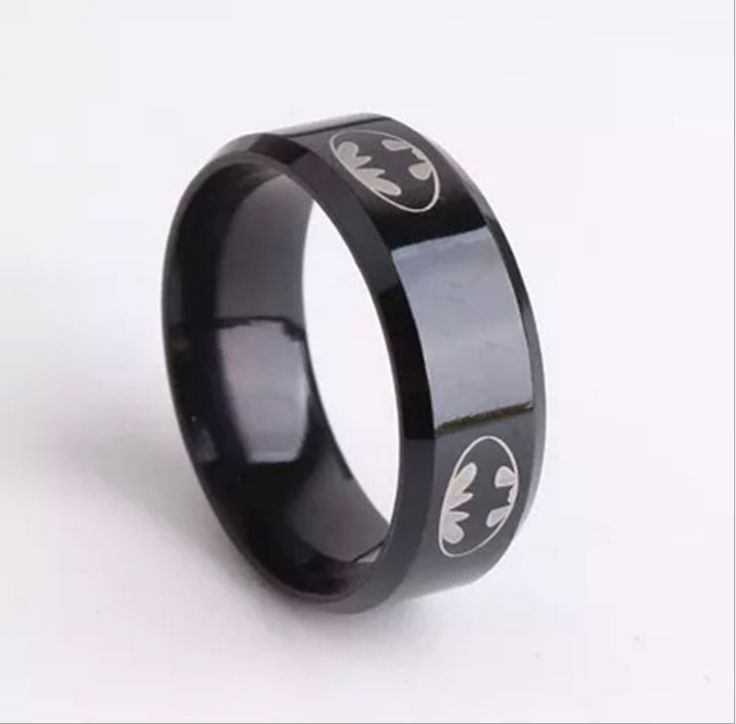 Batman Stainless Steel Rings for Men DC World Shop http://dcworldshop.com/batman-stainless-steel-rings-for-men/    #suicidesquad #superhero #dcuniverse #bataman #superman