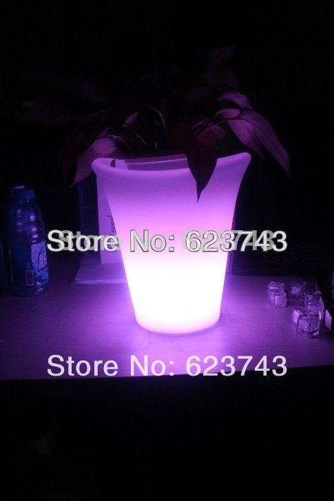 (199.99$)  Buy here  - 5PCS plastic champagne led ice bucket,color changing PE ice bucket, luminous ice cooler,glow Beer cask,Cubo de hielo del LED