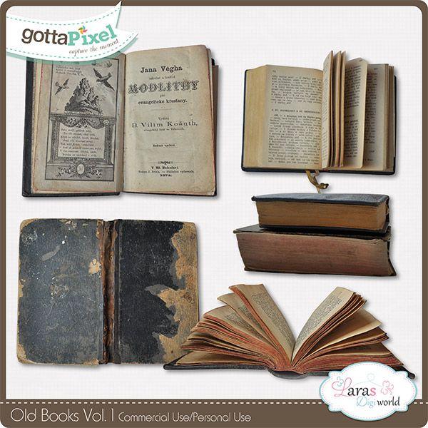 Old Books Vol. 1 #larasdigiworld #gottapixel