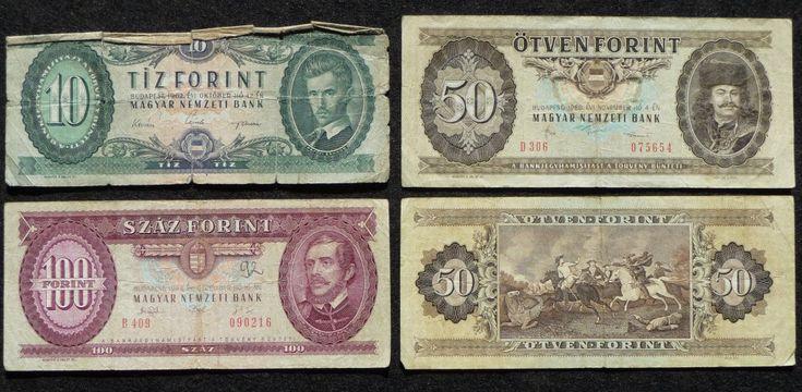 Alte Forint-Scheine aus Ungarn (nicht mehr gültig / withdrawn)