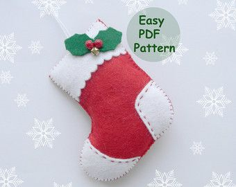 Set PDF pattern christmas ornaments pattern Felt Star Mitten