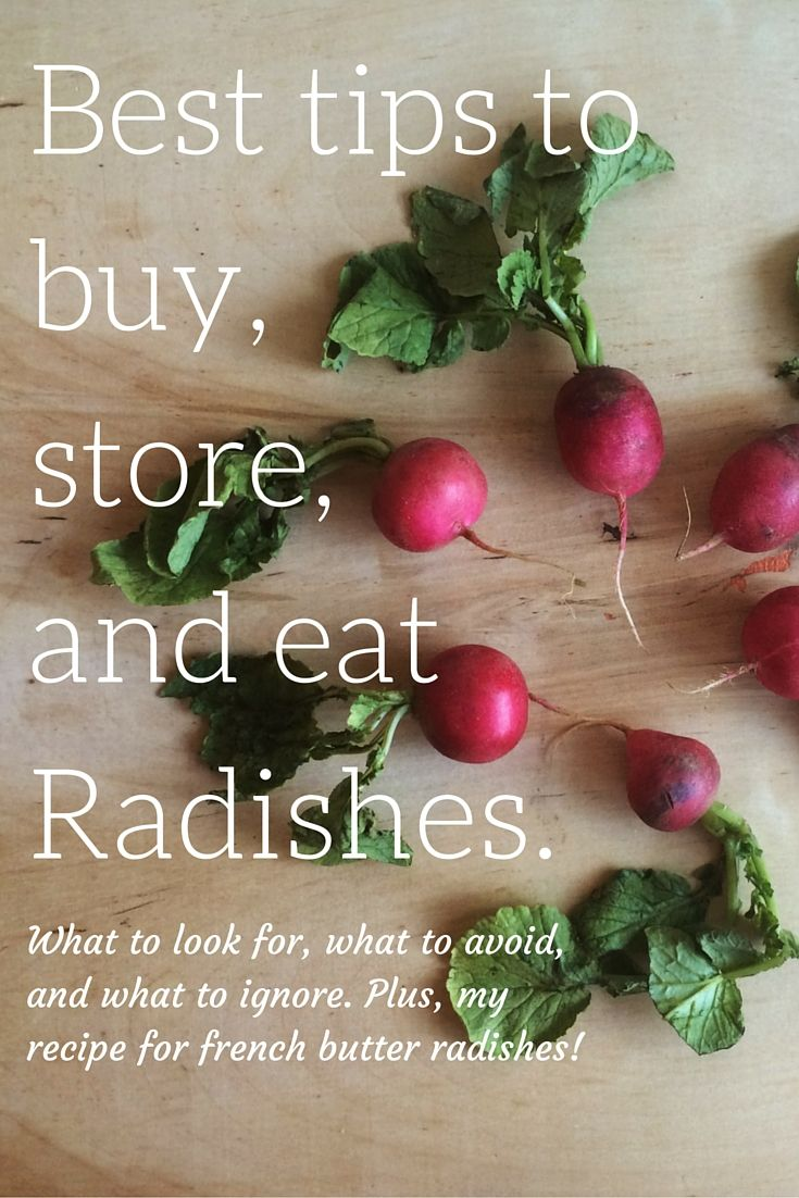 Radishes are one of my favorite veggies! They're so underrated but these spicy nuggets are delicious in all kinds of ways. Today I rounded up my best tips for buying and storing radishes, plus a recipe for French Butter Radishes! You've got to try these!