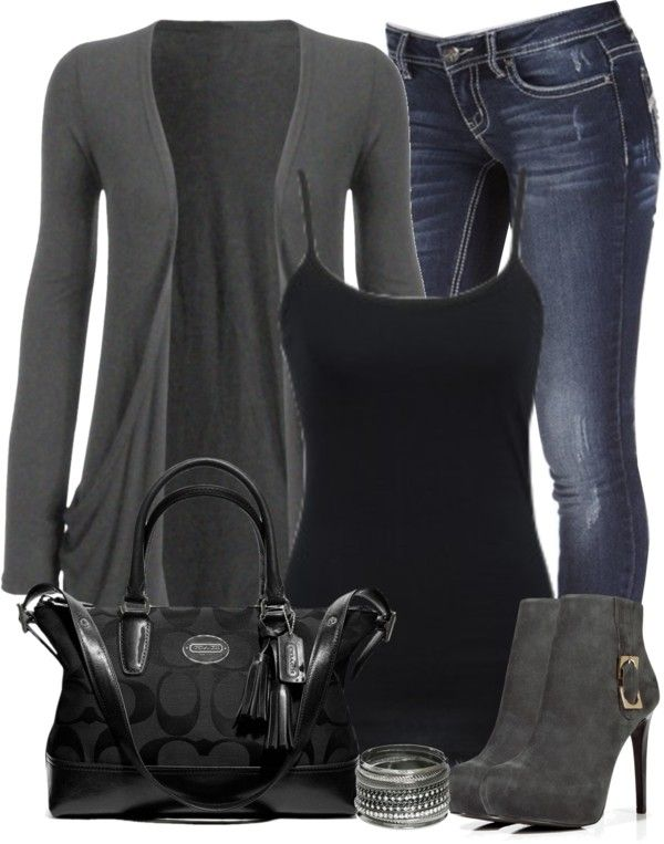 """""""Gray and Black"""" by denise-schmeltzer on Polyvore"""