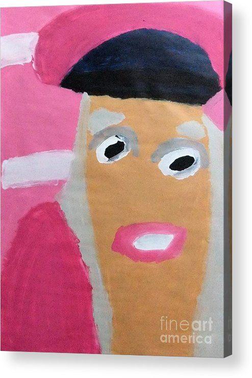 Patrick Francis Acrylic Print featuring the painting Nicki Minaj 2014 by Patrick Francis