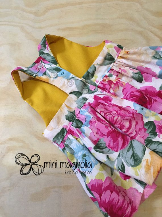 Peppy Pink Peplum top for girls floral peplum by MiniMagnoliaStore