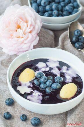 Schwedische Blaubeersuppe - ein Rezept zum Verlieben - herzelieb