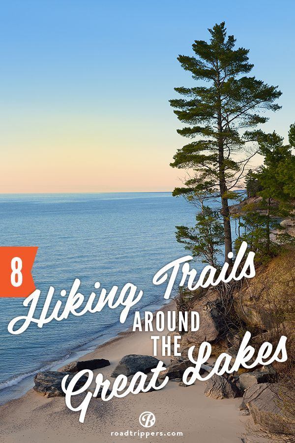 Try these Great Lakes hiking trails. The North Country Trail Map is quite extensive, since it covers 7 states so plan your route before you hike!