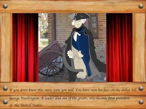 (really cute) George Washington story for kids True Heroes 1781 iPad app. - YouTube
