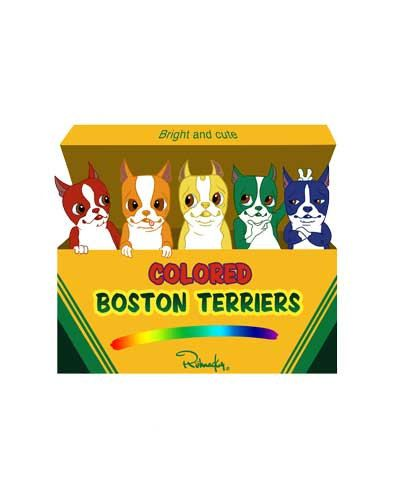 Colored Boston Terriers in a Crayon Box by rubenacker on EtsyCrayons Boxes, Beloved Boston, Brian Rubenack, Colors Boston, Boston Bound, Boston Terriers, Boston Lovers, Boston Art, Animal