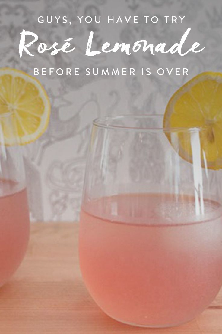 A super easy recipe for rosé lemonade (aka summer in a glass). via @PureWow