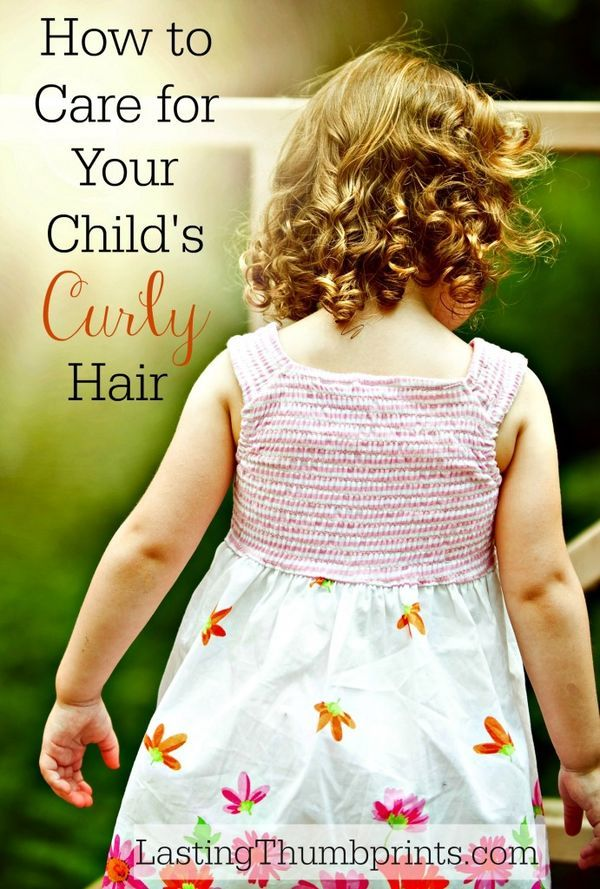 Great tips for managing and caring for your child's curly hair!