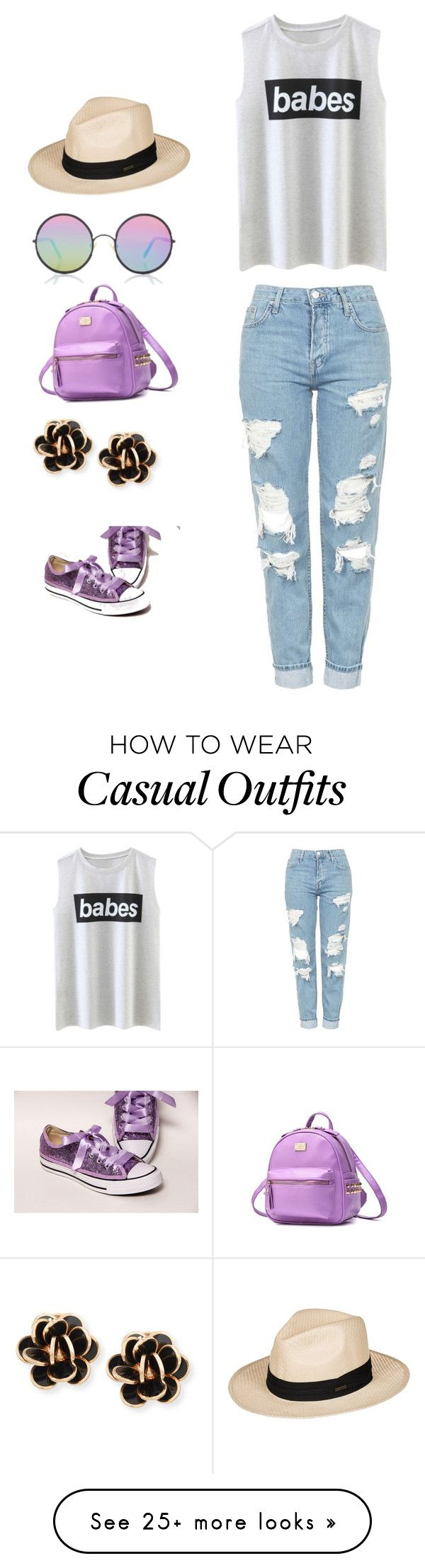 """Casual shoe and bag matching"" by pepper-silliman-1 on Polyvore featuring Topshop, Roxy, Sunday Somewhere and Chantecler"