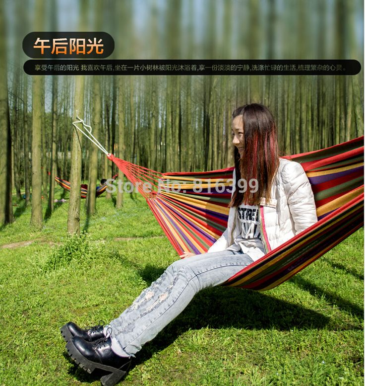 free shipping New Huge Double Cotton Fabric Hammock Air Chair Hanging Swinging Camping Outdoor Red