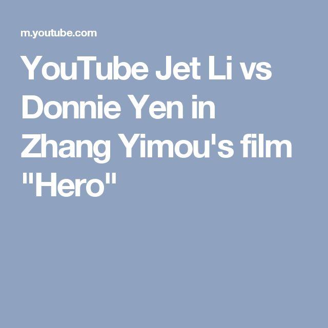 "YouTube Jet Li vs Donnie Yen in Zhang Yimou's film ""Hero"""