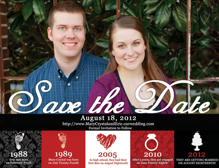 Our Save The Date Magnets!  Ordered from etsy.com! They are great quality! :)