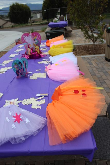 Craft activities at a My Little Pony girl birthday party!  See more party ideas at CatchMyParty.com!