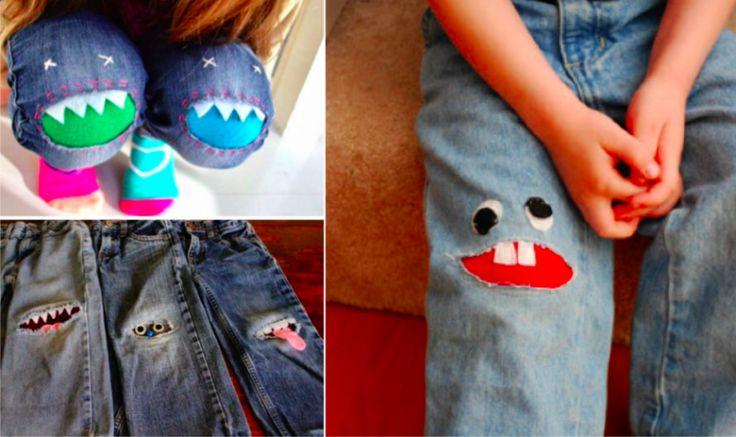 17 idées pour rapiécer de manière originale le pantalon de votre enfant
