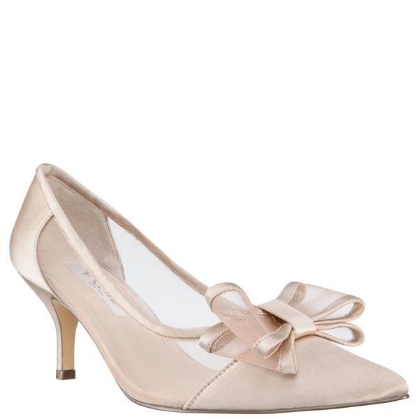 Bianca Champagne Satin In 2021 Nina Bridal Shoes Bride Heels Elegant Shoes