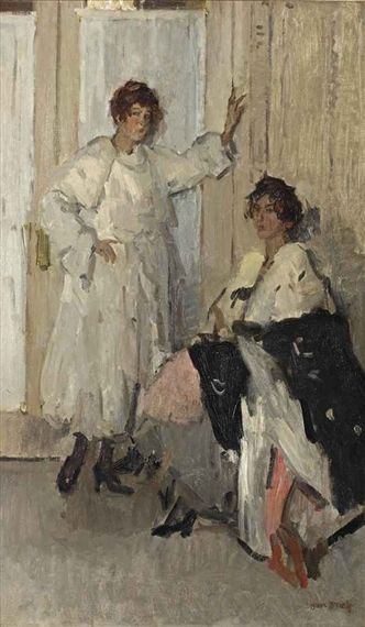 Isaac Israëls - The mannequins Ippy and Gertie at Hirsch, Amsterdam; Creation Date: 1915; Medium: oil on canvas