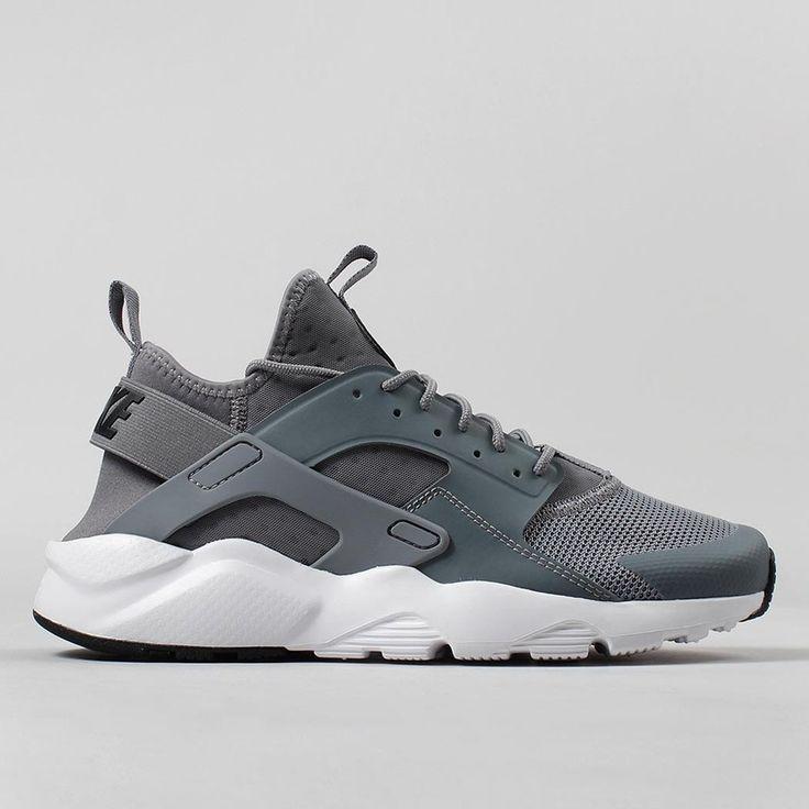 Nike Air Huarache Run Ultra Shoes - Cool Grey/Black