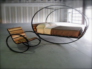 Rocking bed and chair