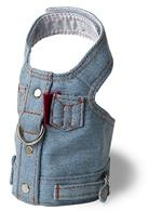 Blue Jean Jacket Denim Vest Harness by Doggles 100