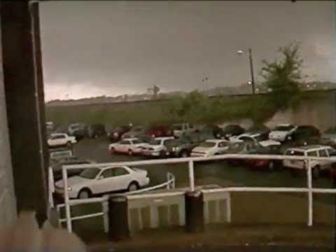 Nashville TV Station Tornado Video 4-16-1998 - YouTube