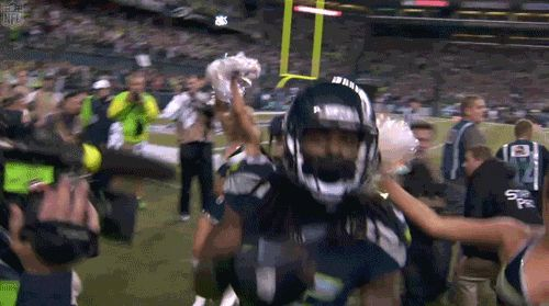 He dances with cheerleaders after interceptions and plays air guitar at practice. | 23 Reasons Richard Sherman Is Actually One Of The Most Likable Players In The NFL