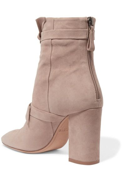 Alexandre Birman - Lorraine Knotted Suede Ankle Boots - Beige