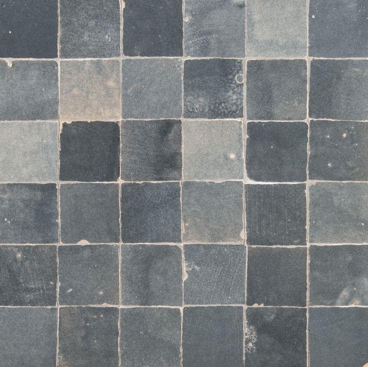 Ann Sacks Idris 2 X 2 Terra Cotta Mosaic In Pearl Grey