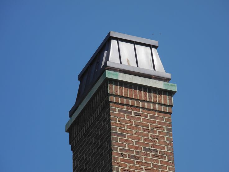 'Royale' chimney crown in real copper / oil rubbed bronze finish from Chimney King.